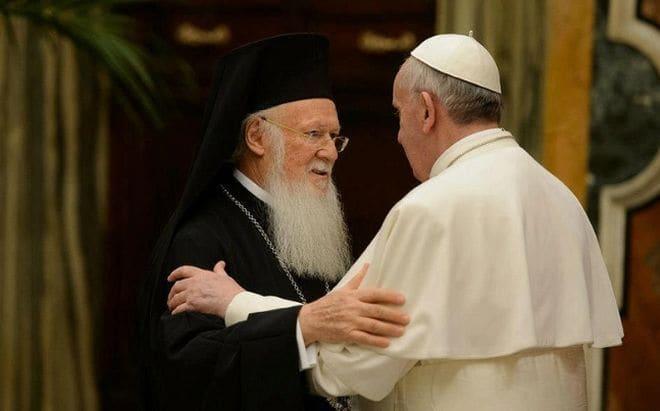 Πάπας Φραγκίσκος Α' και Οικουμενικός Πατριάρχης Βαρθολομαίος