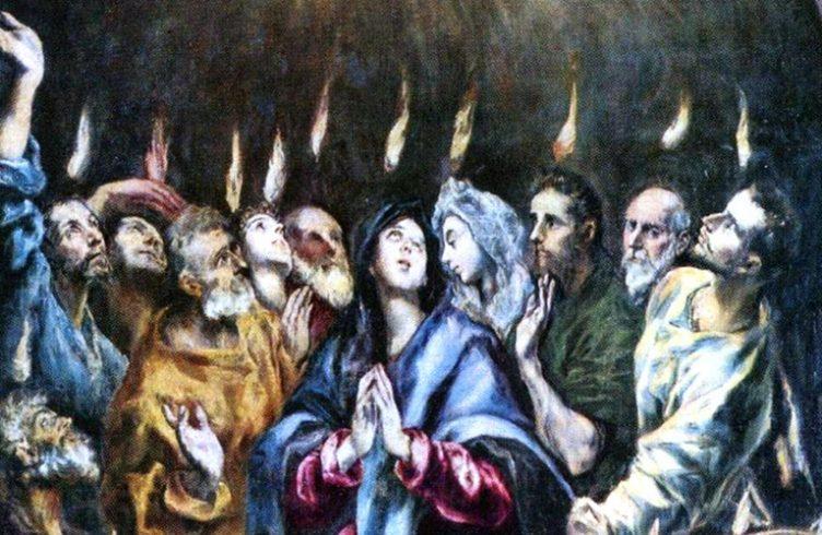 venida del espiritu santo el greco